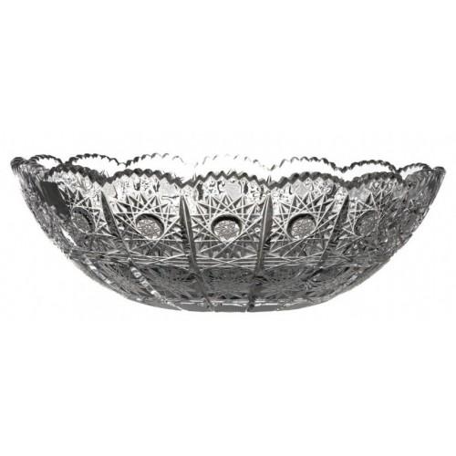 Półmisek 500PK I, szkło kryształowe bezbarwne, średnica 205 mm