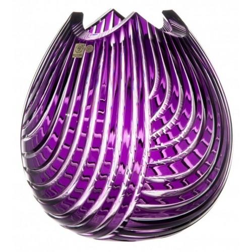 Wazon Linum, kolor fioletowy, wysokość 280 mm
