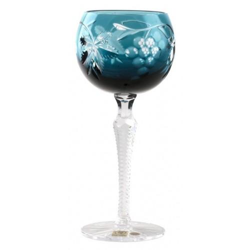 Kieliszek do wina Winogrona, kolor turkusowy, objętość 190 ml