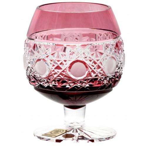 Kieliszek do Brandy Śnieżynka, kolor rubinowy, objętość 230 ml