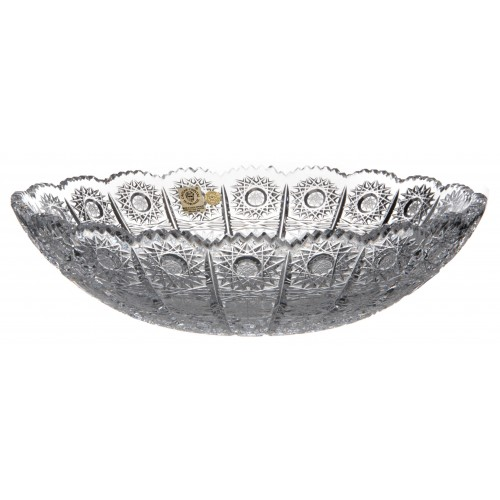 Półmisek 500PK, szkło kryształowe bezbarwne, średnica 255 mm