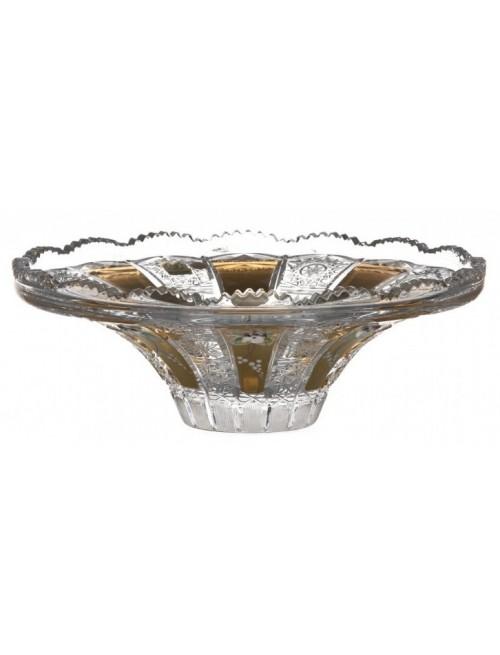 Półmisek emalia, szkło kryształowe bezbarwne, średnica 255 mm