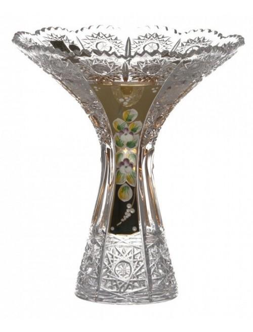 Wazon 500K Złoto IV, szkło kryształowe bezbarwne, wysokość 205 mm