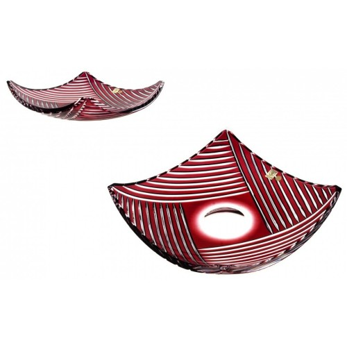 Półmisek Linum, kolor rubinowy, średnica 350 mm