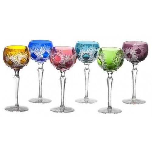 Zestaw kieliszków do wina Mróz 190, różne kolory, objętość 190 ml