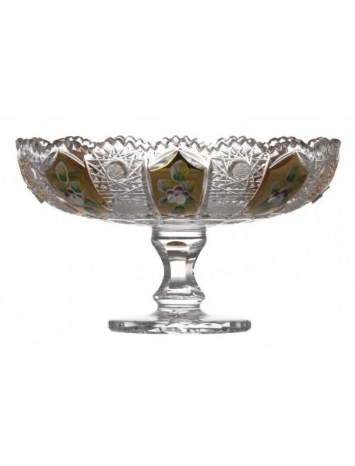 Patera 500K Złoto, szkło kryształowe bezbarwne, średnica 180 mm