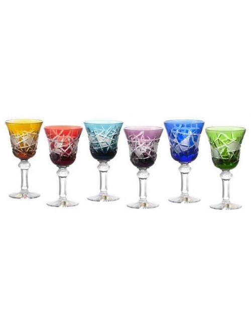 Zestaw kieliszków do wina Mars 180, różne kolory, objętość 180 ml