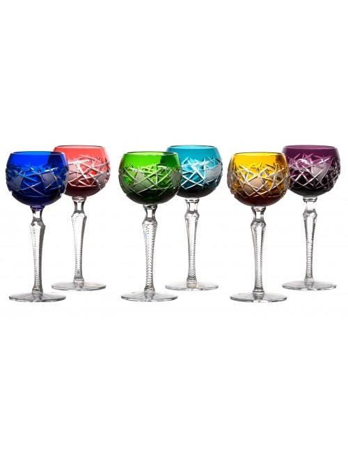 Zestaw kieliszków do wina Mars, Różne kolory, objętość 190 ml