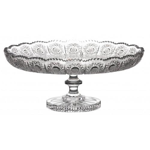 Patera 500PK, szkło kryształowe bezbarwne, średnica 280 mm