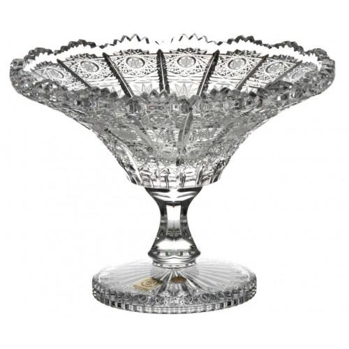 Patera 500PK, szkło kryształowe bezbarwne, średnica 205 mm