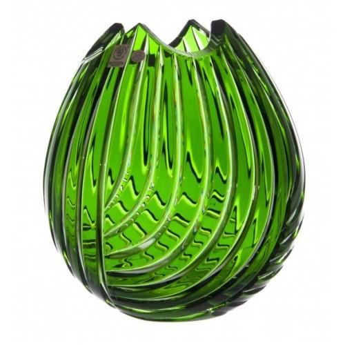 Wazon Linum, kolor zielony, wysokość 210 mm