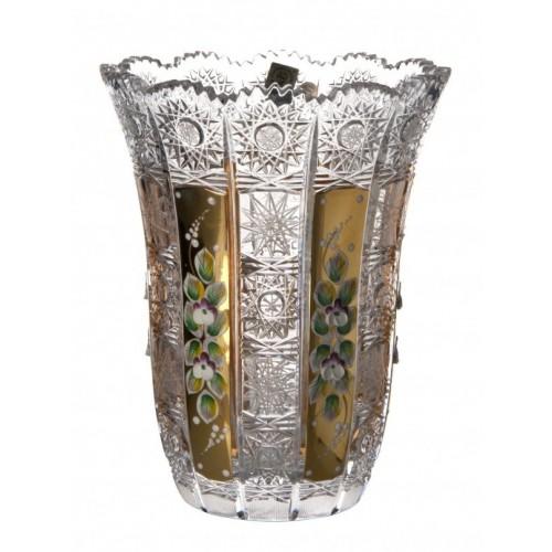 Wazon 500K Złoto VI, szkło kryształowe bezbarwne, wysokość 205 mm