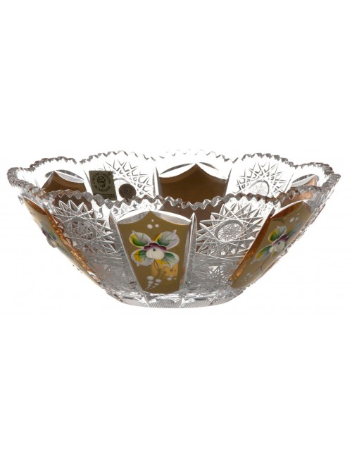 Półmisek 500K Złoto, szkło kryształowe bezbarwne, średnica 180 mm