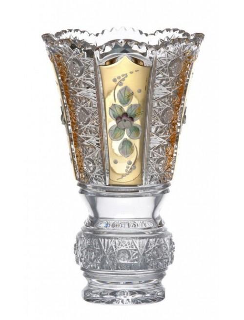 Wazon 500 K Gold, szkło kryształowe bezbarwne, wysokość 205 mm