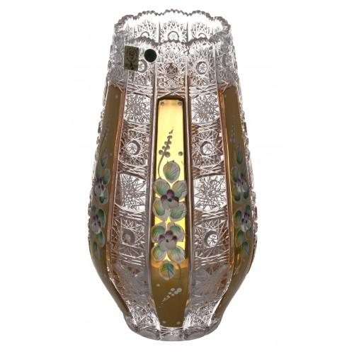 Wazon 500K Złoto, Szkło kryształowe bezbarwne, wysokość 255 mm