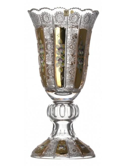 Wazon 500 K Gold, szkło kryształowe bezbarwne, wysokość 430 mm