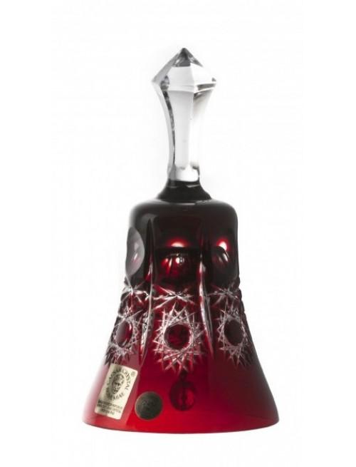 Dzwonek Petra, kolor rubinowy, wysokość 126 mm