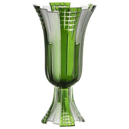 Wazon Metropolis, kolor zielony, wysokość 390 mm