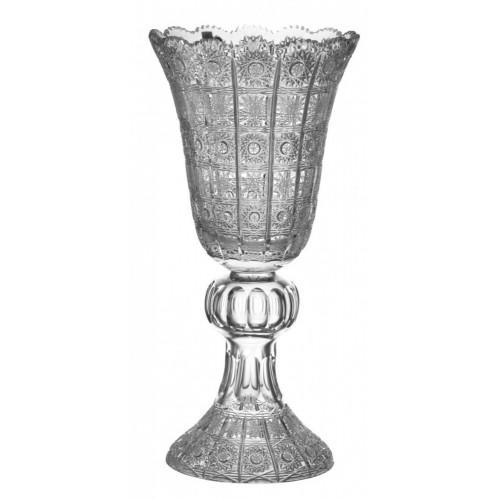 Wazon 500PK, szkło kryształowe bezbarwne, wysokość 505 mm