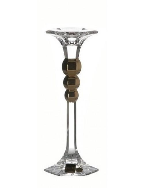 Świecznik Empire Gold, szkło kryształowe bezbarwne, wysokość 205 mm