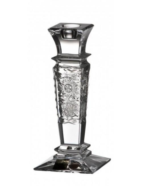 Świecznik Wista 500PK, szkło kryształowe bezbarwne, wysokość 150 mm