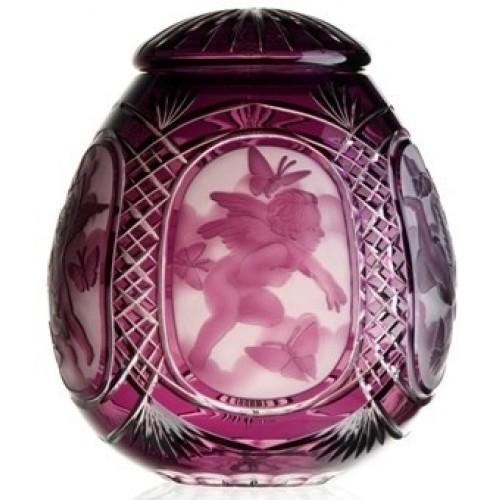Urna Anioł, kolor fioletowy, wielkość 290 mm