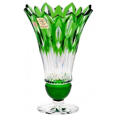 Wazon Płomień, kolor zielony, wysokość 150 mm