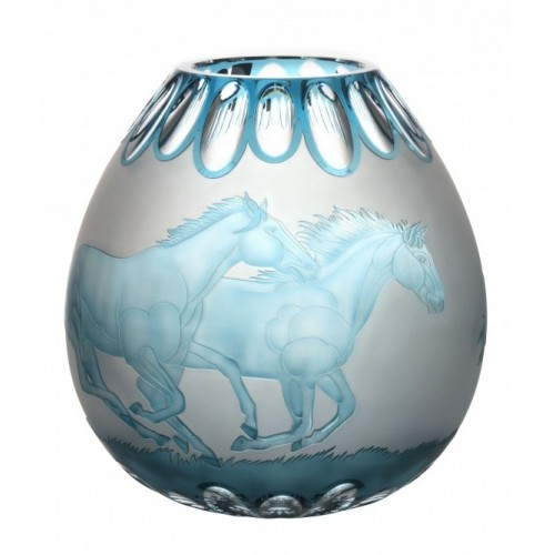 Wazon Koně, kolor turkusowy, wysokość 280 mm