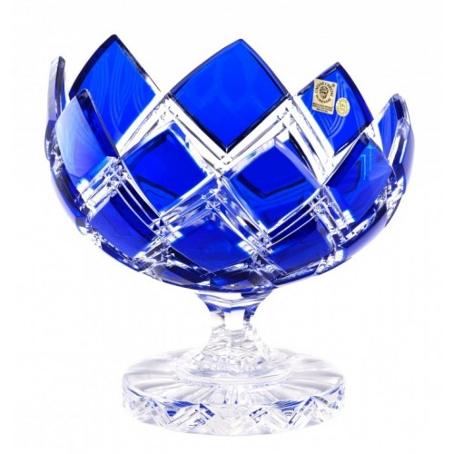 Patera Harlequin, kolor niebieski, średnica 200 mm