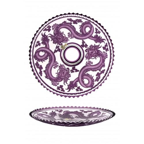 Talerz Smok, kolor fioletowy, średnica 350 mm