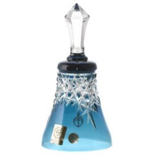 Dzwonek New Milenium, kolor turkusowy, wysokość 126 mm