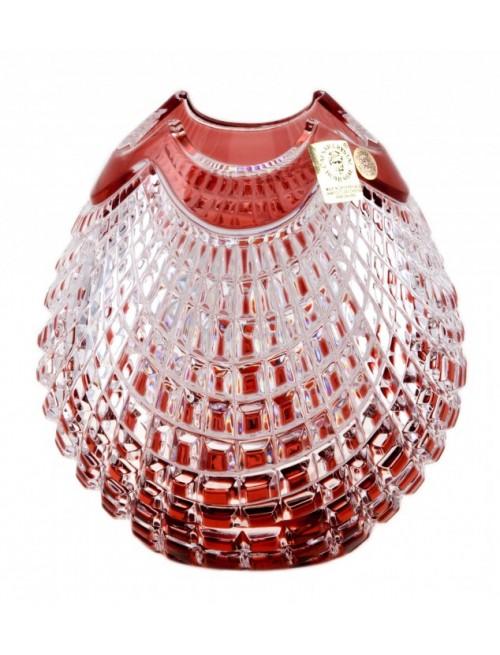Wazon Quadrus, kolor rubinowy, wysokość 135 mm