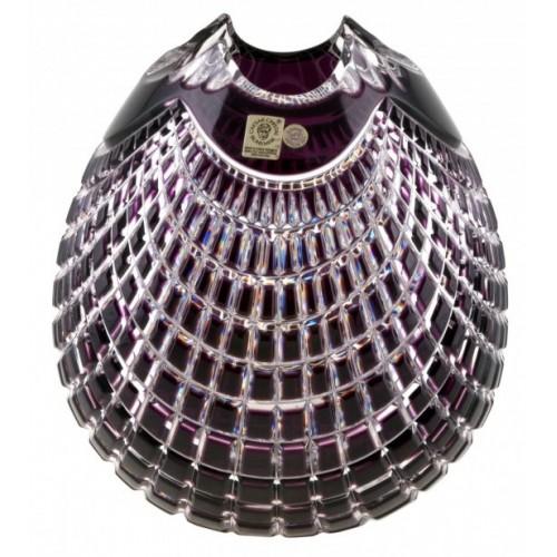 Wazon Quadrus, kolor fioletowy, wysokość 135 mm