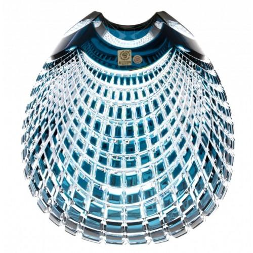 Wazon Quadrus, kolor turkusowy, wysokość 135 mm