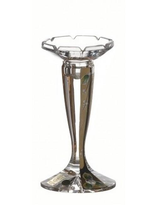 Świecznik Florance Złoto, szkło kryształowe bezbarwne, wysokość 160 mm