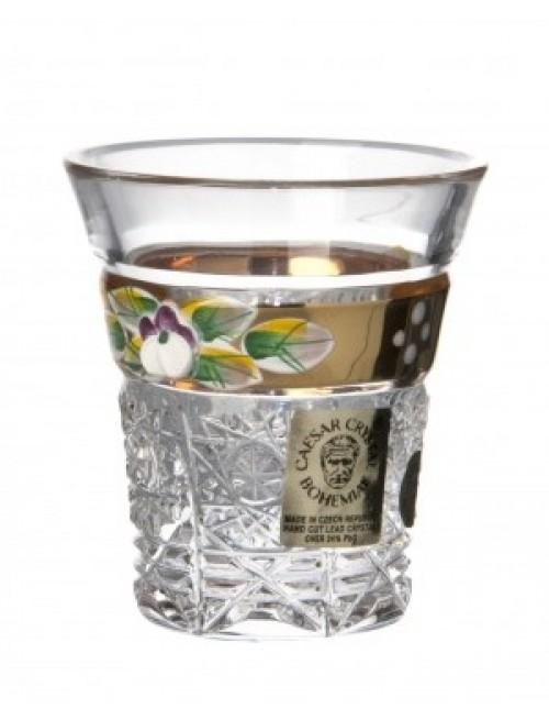 Literatka Złoto, szkło kryształowe bezbarwne, objętość 45 ml