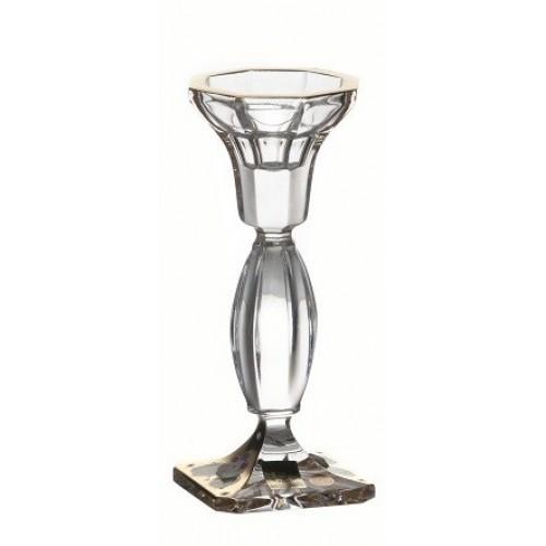 Świecznik Body Złoto, szkło kryształowe bezbarwne, wysokość 160 mm