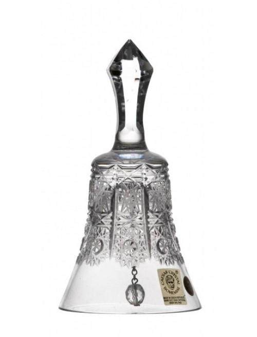 Dzwonek 500 PK, szkło kryształowe bezbarwne, wysokość 126 mm