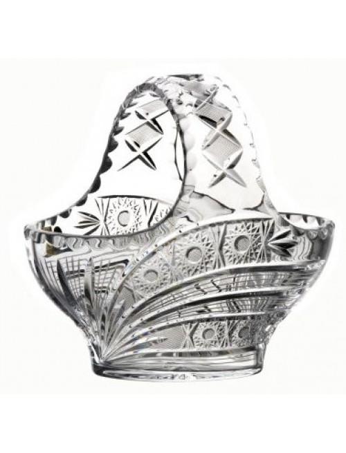 Kosz Kometa, szkło kryształowe bezbarwne, średnica 200 mm