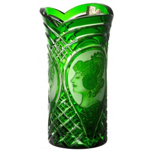 Wazon Mucha, kolor zielony, wysokość 210 mm