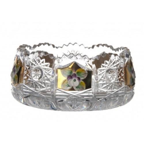 Miseczka Złoto, szkło kryształowe bezbarwne, średnica 120 mm