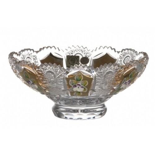 Półmisek Złoto, szkło kryształowe bezbarwne, średnica 155 mm