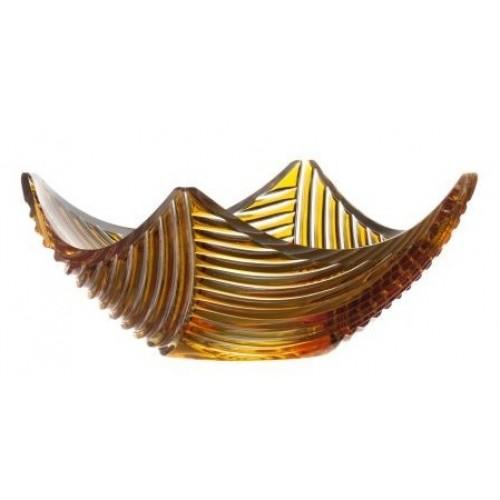 Półmisek Linum, kolor bursztynowy, średnica 280 mm