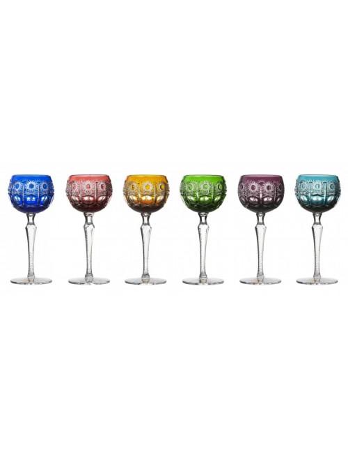 Zestaw kieliszków do wina Petra 190, różne kolory, objętość 190 ml