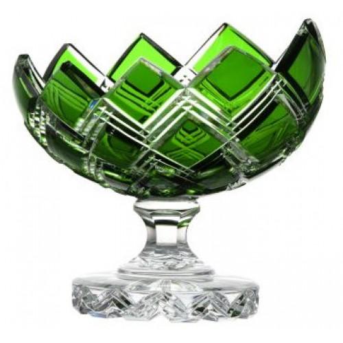Patera Harlequin, kolor zielony, średnica 200 mm