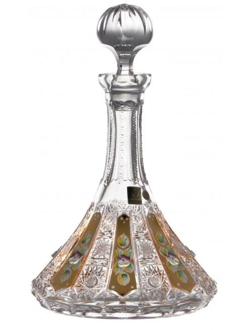 Butelka 500K Złoto, szkło kryształowe bezbarwne, objętość 1050 ml