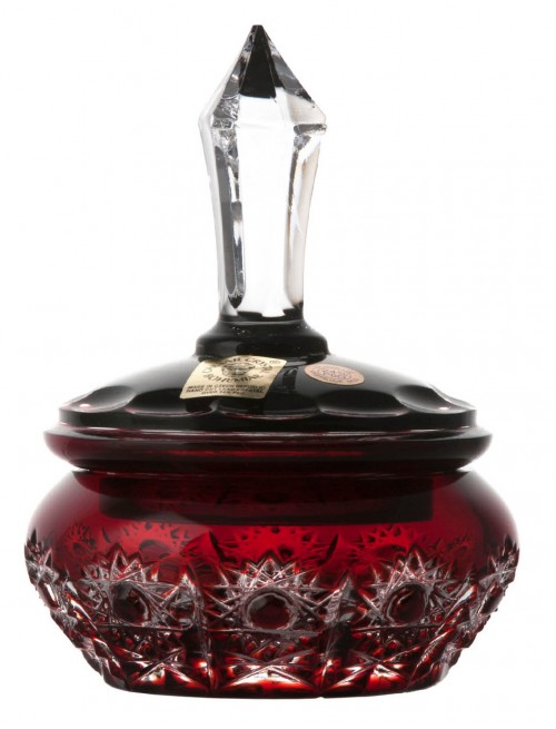 Bomboniera Petra, kolor rubinowy, średnica 110 mm
