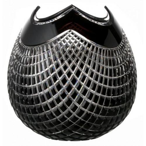 Wazon Quadrus, kolor czarny, wysokość 250 mm