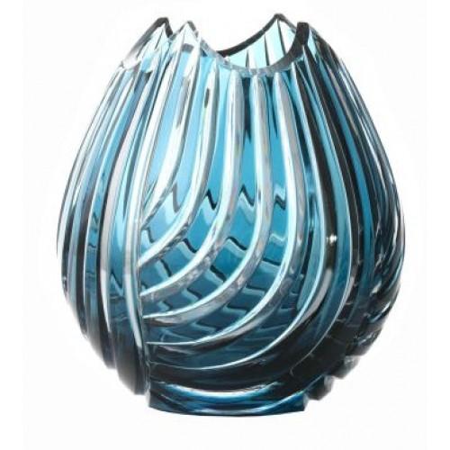 Wazon Linum, kolor turkusowy, wysokość 135 mm