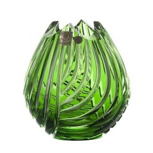 Wazon Linum, kolor zielony, wysokość 135 mm